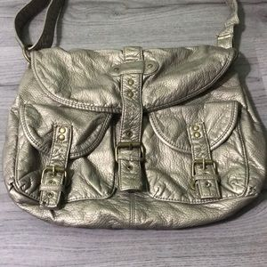 Bags - Gold/Silver Crossbody Purse